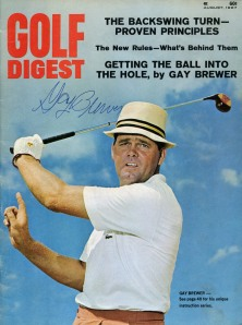 Lexington's Gay Brewer, Jr. on the cover of Golf Digest after his Masters victory.
