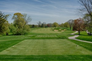 A look at the 5th hole from the tee box on Dubsdread.