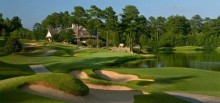 A look toward the clubhouse from the 9th hole of Heritage course.