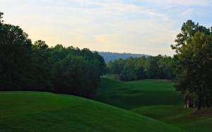 The Ridge course is most aptly named, as witnessed from the first tee.