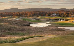 The breathtaking view of the entire Silver Lakes complex from the 7th tee of the Heartbreaker.