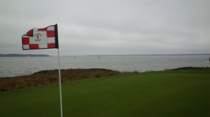 Not even rain, clouds, cold, and wind could dampen my spirits as I walked off the 18th green.