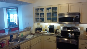 As nice as the kitchen was, it ended up being just the place we made oatmeal and stored our iced tea and leftovers.
