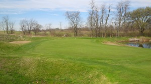 With water right, bunkers short and long, perhaps the deepest green at Kearney, and some of the most strategically important mounds on the course, the par 3 12th hole is nothing but trouble.