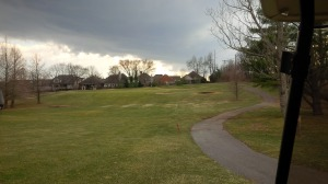 Every once in a while, it really isn't my fault: nothing good happens in 30 mph winds at Lakeside G.C.