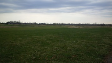 A look from the 7th fairway reveals the largely treeless high ground upon which Nevel Meade Golf Course was built.