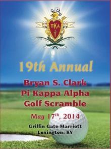 19th Annual Pi Kappa Alpha Golf Scramble invitation