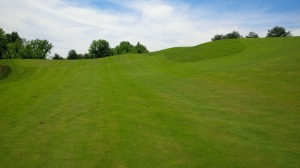 """This view of the 11th fairway depicts one of Eagle Ridge's more """"gently rolling"""" fairway slopes."""