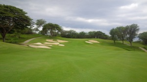 Bunkers guarding the approaches and greens was a recurring theme at Wailea's Gold Course.