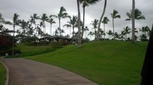 The sight of the Clubhouse behind the 18th green meant that my sandy journey through the back nine was mercifully over.