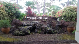 The lava rock prevalent all around Wailea added a unique element to the Gold Course's rugged beauty.