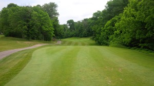 The short par 4 12th hole is one of many that pulling the driver on the tee was never a consideration.