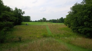 The split fairway on the par 5 3rd hole was the first of many instances in which a little experience or local knowledge of the course would have paid huge dividends.