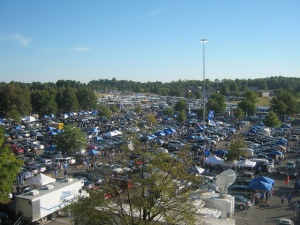 This is the scene you can expect to find surrounding Commonwealth Stadium on game day.