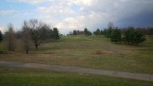 I'm getting cold just looking at this picture of a cold, leaf-less Kentucky golf course in winter.