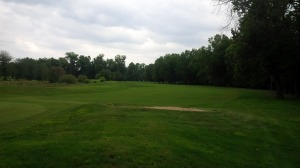 The 6th fairway is typical of what you find at the Wildcat: tree-lined fairways, with slight curves and subtle hazards.