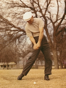 """""""Reverse every natural instinct and do the opposite of what you are inclined to do, and you will probably come very close to having a perfect golf swing."""" - Ben Hogan.  Boy, did he ever have that one right?"""