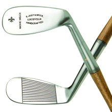 Clubs this pretty almost make the idea of hitting a Mashie or a Niblick desirable.  Check out https://www.louisvillegolf.com/ for more classic golf clubs of bygone eras.