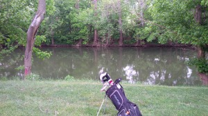 Apparently I play better the prettier the golf hole; #15, with the North Elkhorn Creek running the length of the hole, yielded my only birdie of the round.