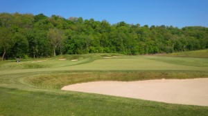 The natural areas abutting the mowed rough is where errant shots go to die, which is no comfort from the 6th fairway.