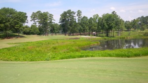 Possibly driveable by pure distance, there are as many potential impairments as there are ways to attack the short par 4 16th hole, which is, in essence, what makes the Lake Course so much fun to play.