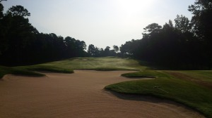 A staple of RTJ Trail courses, and Jones' designs generally, the use of bunkers on the Lake Course are the perfect compliment to the mounding and abundant water hazards.