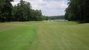 A split fairway was one of many features of the Links Course that added difficulty and intrigue to the rolling layout.