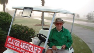 Despite the resemblance to Dan Jenkins, this guy can solve a lot of problems on the golf course.
