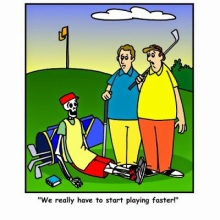 I'm fairly worthless if the pace of play is too slow.  Focus gives way to mental wandering and my golf game suffers.
