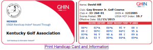 If you don't know where to look, getting a copy of your GHIN card can be a near impossible trick to pull off.