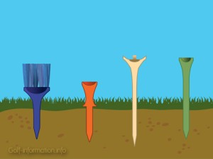 I see a paint brush, a push tack, a trophy to place a ball upon, and a golf tee.
