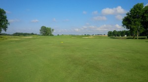 From the middle of the 2nd fairway, one gets an idea of the enormity of the horizon.