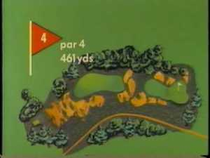 The antiquated graphics from the 1960's are more charming than and as effective as the best that the modern golf productions turn out each week.