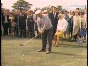 That's not a scene from Goldfinger, it's what exhibition golf used to be.