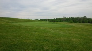 Once one reaches a green at Gibson Bay, the challenge is far from over, as ridges, tiers, strong slopes, and surrounding mounds are common features.