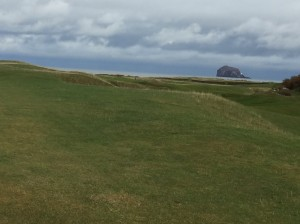 Despite the ominous skies, the views at North Berwick make a heck of a first impression.
