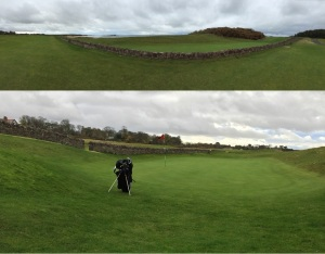 The bane of my round. Seriously, who thought a giant stone wall was a good idea on a golf course?