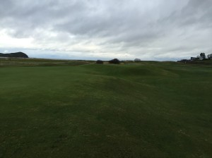 The Biarritz green at North Berwick's 16th is beautiful, almost like a mirage designed to trick the mind.