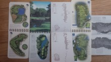 Even if I didn't take pictures on the course, I can pretty much recreate my rounds from these artful and immensely helpful yardage books.