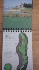 When playing a course for the first time, I love to have a yardage book, not only for accurate yardages and hole overviews, but also so I can scribble some notes of what I was experiencing.