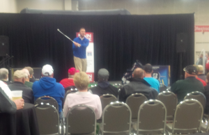 Rather than carnival barkers, the Expo's main stage gave PGA professionals the opportunity for nice Q&A sessions with attendees.