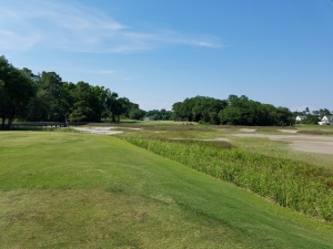 From the 18th tee at Old South, you'll begin to forget how high your score is and start thinking of how good that Low Country Boil will taste at dinner.