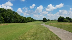 "The ultimate ""ease-in"" opening hole, the 1st hole is a driveable par four."