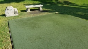 Due to the miracles of technology, the tee boxes at Colina Park are always in pristine condition.