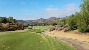 The elevated 5th tee provides one of the many distracting views at Maderas.