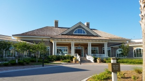 The sparkling new clubhouse serves both the Heron Point course and the revamped Atlantic Dunes course at Sea Pines.